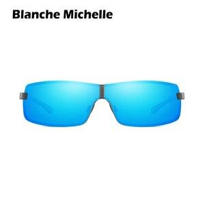Image 2 - Bm Aluminium Frame Gepolariseerde Zonnebril Mannen UV400 Merk Designer Rijden Zonnebril Mannelijke Goggle Spiegel Vintage Oculos Masculino
