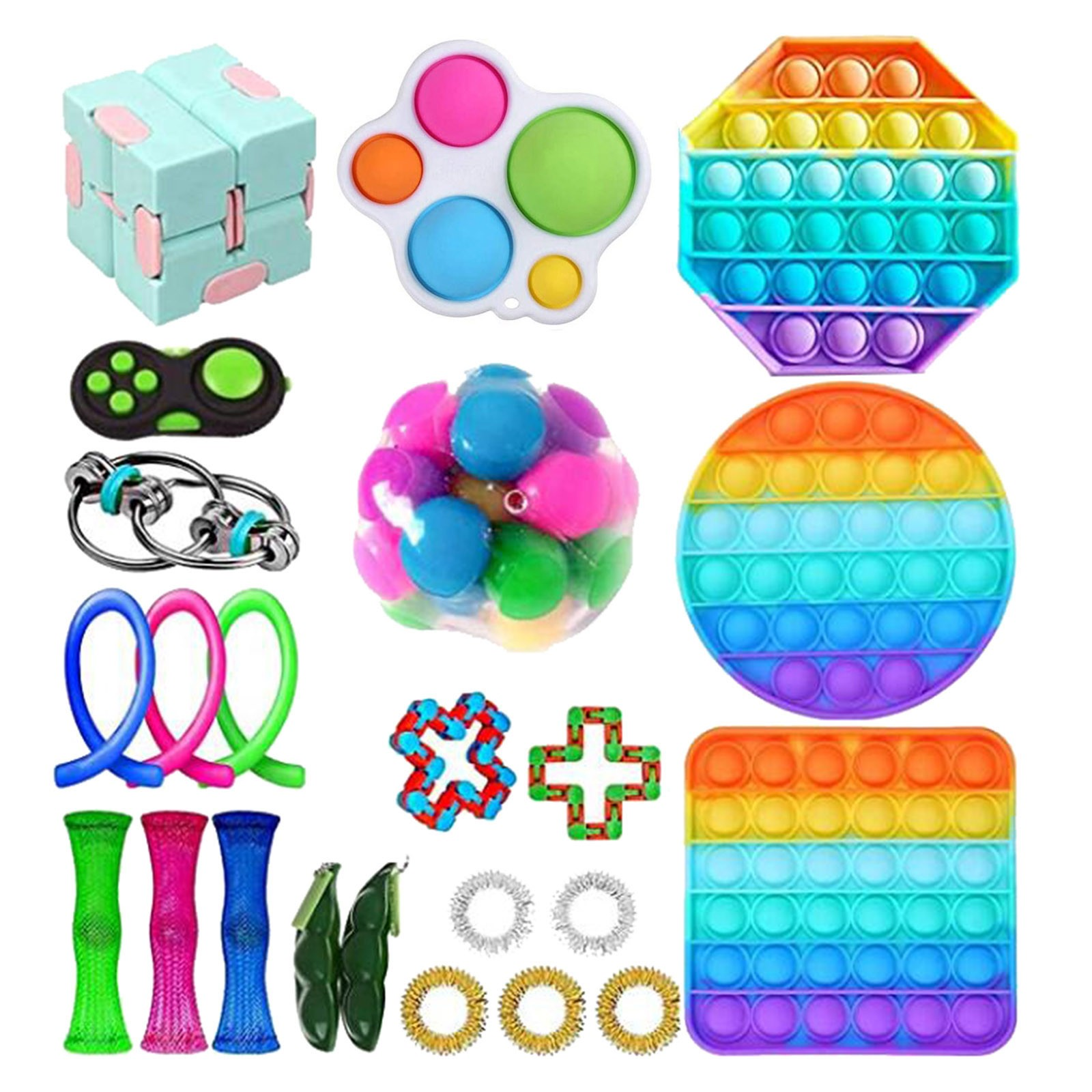 50 видов беспокойная игрушка по дешевым ценам сенсорная Непоседа упаковка игрушек для детей и взрослых надувные игрушки fidjets упаковка игруш...