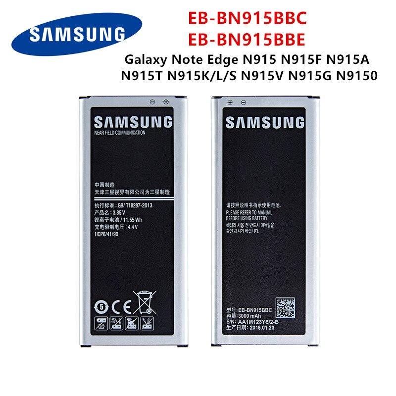SAMSUNG Orginal EB-BN915BBC EB-BN915BBE 3000mAh Battery For Samsung Galaxy Note Edge N9150 N915 N915F/D/A/T N915K/L/S N915V/G