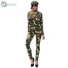 цена Female instructor military camouflage Halloween COSPLAY clothing bar nightclub camouflage theme party uniform uniform party онлайн в 2017 году