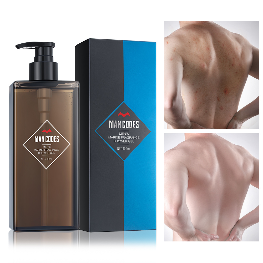 MENCODES 400ml Men Shower Gel Whole Body Wash Fast Whitening Deep Cleansing Bath Skin Moisturizing Exfoliating Body Care