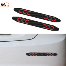 YOLU 2 Pieces/set Car Reflective Stickers Door Wheel Eyebrow Sticker Decal Warning Tape Safety Mark Strips