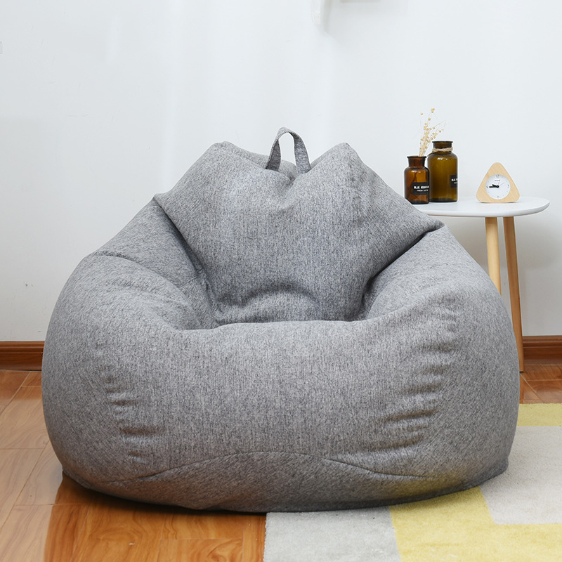 Beanbag Sofa Cover No Filler Bedroom Living Room Sofa Bed Lazy Bean Bag Sofa Casual Tatami Lounger Chair Couch Cover Pouf Puff