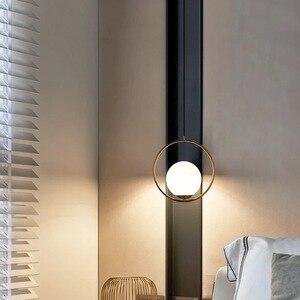 Image 2 - Modern LED Round Glass Ball Pendant Lights Iron E14 Pendant Lamps Hanging Light Fixture for Living Bedroom Dining Room