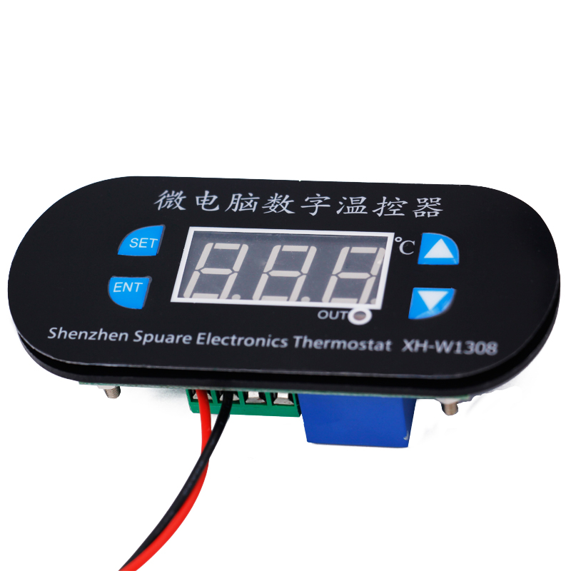 FashionW1308 DC 24V Digital Cool Heat Sensor Temperature Controller Adjustable Thermostat Switch Thermometer Control Red Light