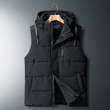 Sleeveless Jacket Waistcoat Down-Vest Oversized Winter Padded Hooded Warm AUTUMN Thick