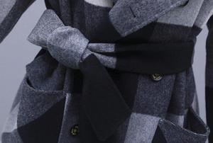 Image 5 - Contrast plaid woolen coat female 2020 autumn winter warm windproof long overcoat plus size trench coat suit collar casaco top