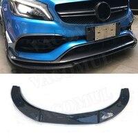 Carbon Fiber / FRP Front Bumper Lip Spoiler for Mercedes Benz A Class W176 A180 A200 A260 A45 AMG 2016 2019 Car Styling