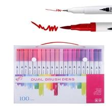 Акварельный набор кистей и ручек двойной кончик ручки для рисования маркер раскраска кисти эскиз акварельные цветные маркеры художественные принадлежности