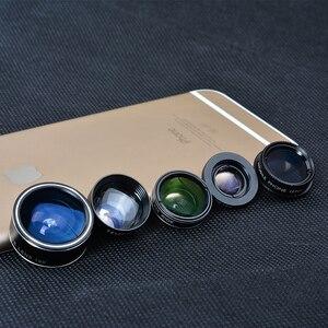 Image 5 - APEXEL HD 5 w 1 zestaw obiektywów aparatu telefonicznego obiektyw typu rybie oko + 0,63x szeroki kąt + 15x obiektyw makro + 2X teleobiektyw + obiektyw CPL dla większości telefonów