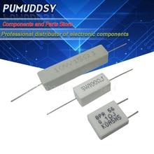 10PCS 5W 10W resistência Cimento 0.1 ~ 10 BPR56 k ohm 0.33R 1R 10R 100R 0.22 0.33 1 igmopnrq 10 100 K 10 1K ohm Cimento resistor