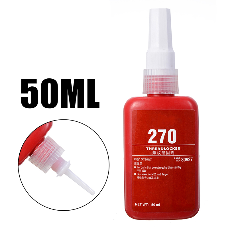 1Pcs 270 High Strength Threadlocker Adhesive Glue Thread Locker 50ml For Threaded Connections Prevent Loosening