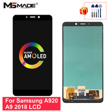 Display SM-A920F Super AMOLED For Samsung Galaxy A920 Display A9 2018 LCD Touch Screen Digitizer For A9S A9 Star Pro Screen(China)