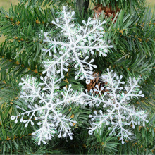 Christmas drawing plastic snowflakes 11 cm the snowflake pendant snow decorate Christmas ornaments цена