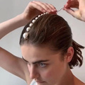 Заколки для волос JURAN, длинные заколки с искусственным жемчугом, роскошные заколки с кристаллами, аксессуары для волос ручной работы