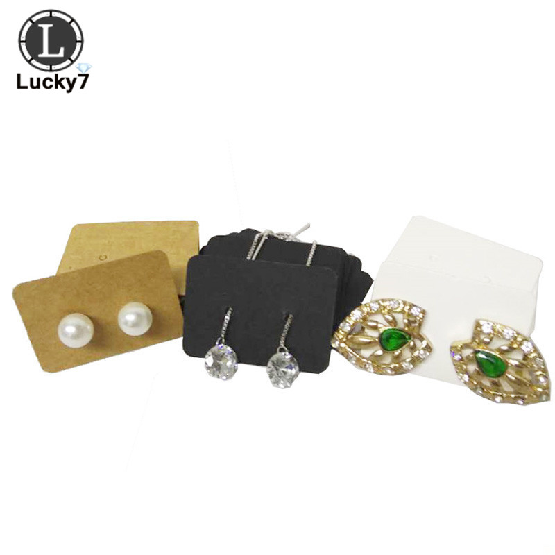 100PCS 3.5*2.5cm Multi Color Paper Cute Stud Earring HangTag Card Custom Logo Cost Extra Jewelry Display Packing Card