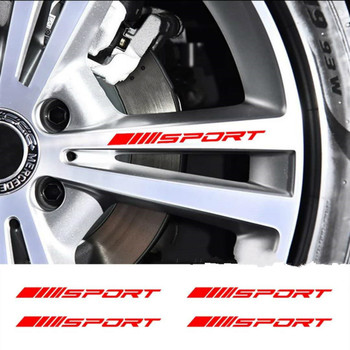 4pcs Car Wheel Decal Styling Accessories Sticker For BMW E46 E39 E90 E60 E36 F30 F10 E34 X5 E53 E30 F20 E92 E87 M3 M4 M5 X5 X6 image