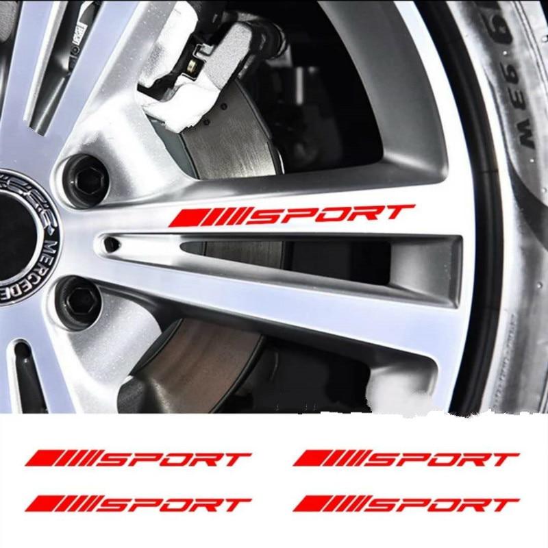 4pcs Car Wheel Decal Styling Accessories Sticker For Toyota Corolla Avensis Yaris Rav4 Auris Hilux Prius Prado Camry Celica