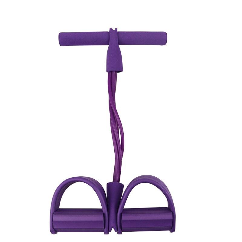 Фитнес-резинка, 4 трубки, Эспандеры, латексный Педальный Тренажер, сидячий эспандер, эспандер, эластичные ленты, оборудование для йоги, пилатеса, тренировки-3