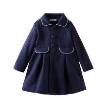 Новая детская одежда детское шерстяное пальто для девочек зимняя одежда для малышей длинные ветровки для девочек