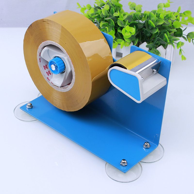 Heavy Duty Desktop Table Tape Label Dispenser With Suction Cup Sucker Stand Cutter Office Supplies H7EC