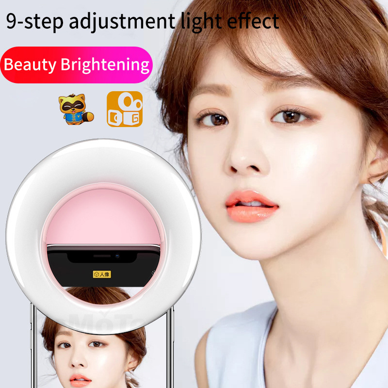 cheapest 10inch RGB Selfie Ring Light Shape Light Adjustable Telescopic Tripod And Phone Clip Remote Controlling Ring Fill Lamp Remote