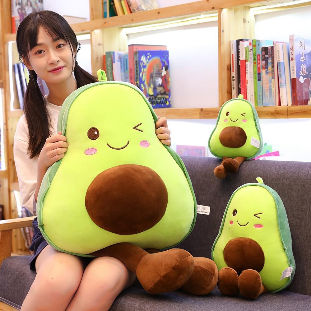 Peluche de aguacate de 85cm para niños, almohada suave de plantas de peluche, cojín de sofá, muñeco de relleno de aguacate