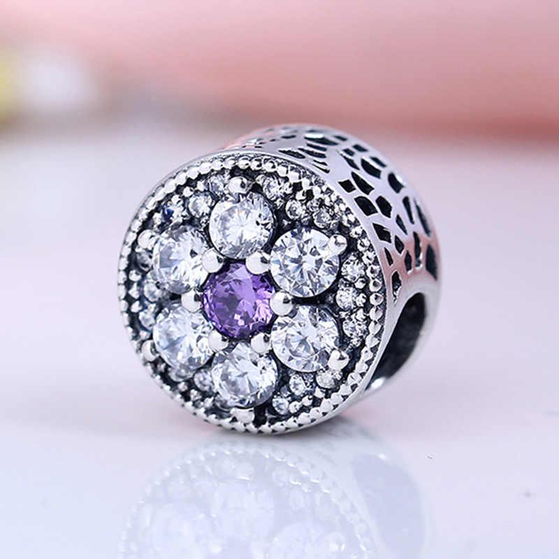 Baru 925 Sterling Silver Berkilauan Infinity Hati dan Bintang Liontin Diy Baik Manik-manik Fit Asli Pandora Gelang Perhiasan