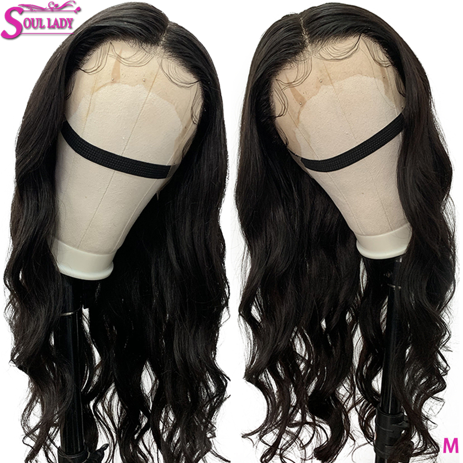 Transparent Lace Wigs 13x4 Body Wave Lace Front Human Hair Wigs Black Women 150%Middle Ratio Pre Plucked Malaysian Remy Hair Wig