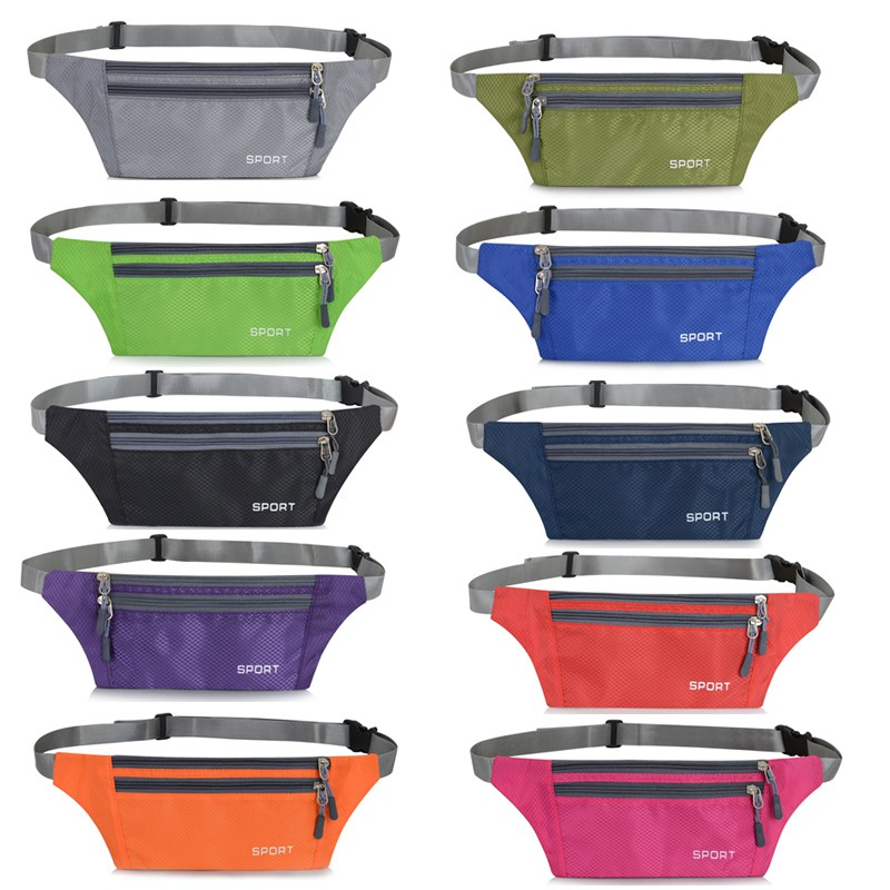 Colourful Multi Functional Ultra-thin Water Resistant Adjustable Storage Pouch Outdoor Travel Running Accessories Waist Bag