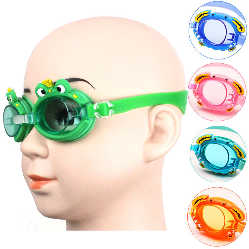 [] Cute Waterproof Anti-fog CHILDREN'S Swimming Goggles Learn Swimming Glasses Baby Cartoon Jing With Adjustable