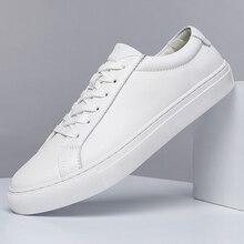 Male Shoes Handmade White Men Men's Genuine-Leather Fashion Brand New Black