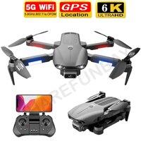 Dron F9 con GPS, 4K, 6K, cámara Dual de HD, profesional, Wifi, Fpv, Motor sin escobillas, plegable, RC, distancia, 2021 KM, juguetes, 1,2