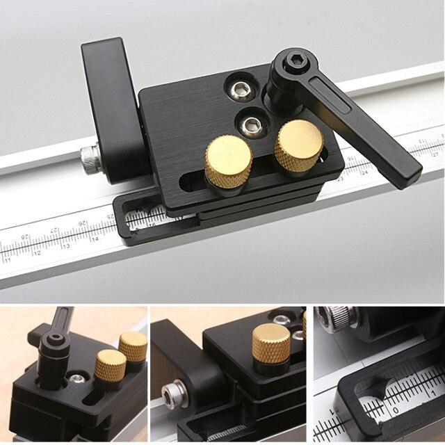 Limite de pista de parada de pista de mitra para t slot t tracks parar limitador de rampa localizador carpintaria diy ferramentas manuais