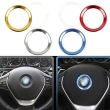 Auto zubehör Auto Lenkrad Zentrum Dekoration Fall Für BMW 1 3 4 5 7 Serie M3 M5 E81 E87 f30 34 F10 X1 X3 Auto styling