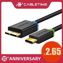 CABLETIME USB 3.1 Type C to Micro 3.0 USB Type c to Micro b Male Data Cable Sync Charging for Macbook USB-C Micro USB Cable C009 стоимость