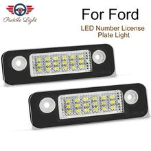 2pcs White Car LED License Plate Light Lamps FIT For Ford Fusion Fiesta Mondeo Exterior Accessories
