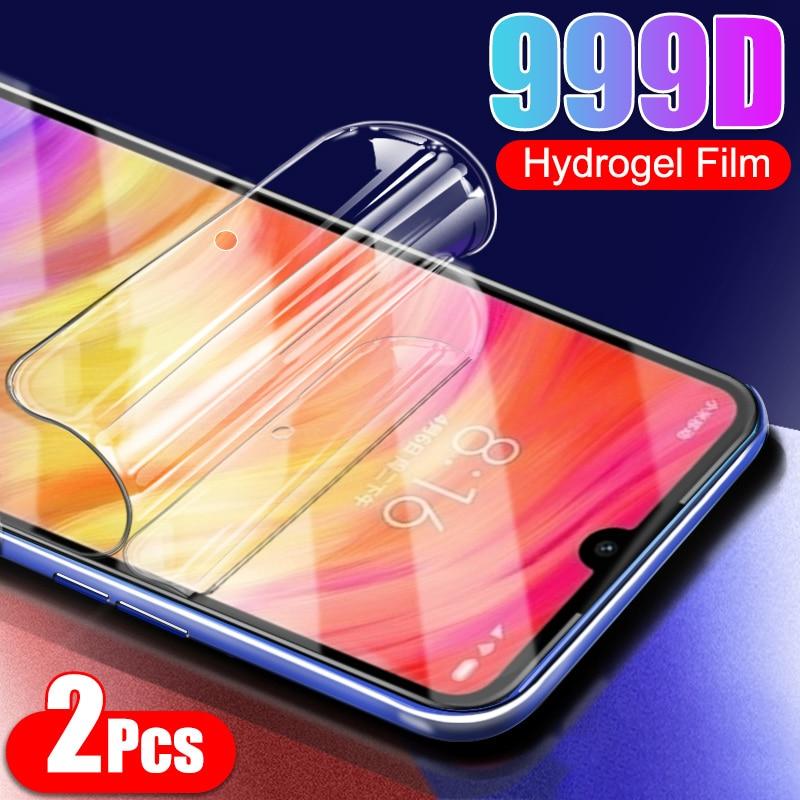 2 pçs protetor de tela no para xiaomi redmi nota 9 8 pro max 9s 9c 7 5 plus 6 6a 7a 8a 9a cobertura completa filme de hidrogel não vidro