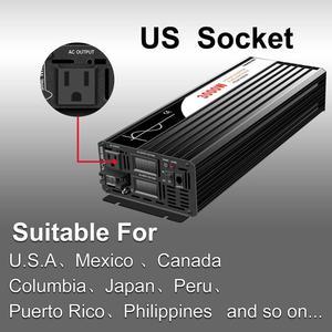 Image 2 - Pure Sine Wave Inverter 3000W New DC 12V 24V 48V to 110V 220V Car  Solar  Power Inverter