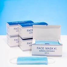 50 pcs Surgical Mask 3 Layers Anti-Virus Medical mascarilla Filt Disposable Face Mask 3Ply Flu Hygiene Masks