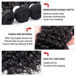 Image 4 - 3 6 9 pacotes negócio brasileiro onda de água tecer cabelo por atacado extensão do cabelo humano remy pacotes de cabelo negócio pode ser tingido jarin cabelo