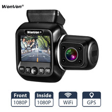 WonVon Car Mini DVRs Dual Lens Dash Cam DVR 1080P IMX323 GPS WiFi  Camera 2.0 LCD IR Night Vision for Uber Lyft Truck Taxi