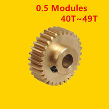 0.5 Modulus Copper Gear 40T- 49T Tooth for 3D Printer Precision Miniature Motor Small Module