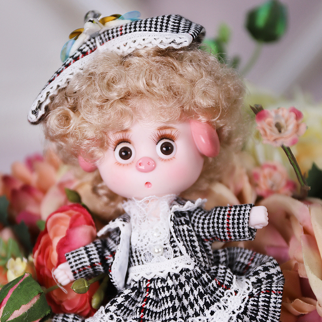 Dream Fairy 1/12 BJD DODO Doll Vintage and Perky style 14cm mini doll 26 joint body Cute children gift toy ob11 4