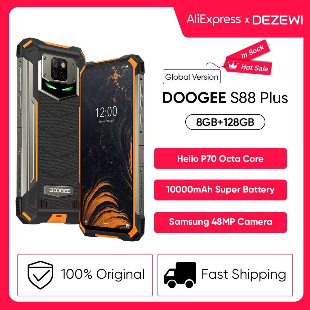IP68/IP69K DOOGEE S88 плюс прочный мобильный телефон Глобальная версия 10000 мА/ч, Батарея 48MP Камера 8 ГБ 128 Встроенная память Смартфон Android 10