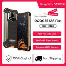 Ip68/ip69k doogee s88 mais versão global áspera do telefone móvel 10000mah bateria 48mp câmera 8gb 128gb rom smartphone android 10