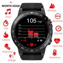 Цифровые GPS Смарт-часы для бега спортивные GPS телефон с часами Bluetooth вызова смартфон Водонепроницаемый сердечного ритма компас Высота часы