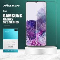 Para samsung galaxy note 10 9 nillkin cp + max cobertura completa 3d vidro temperado protetor de tela para samsung s20 ultra s10 mais vidro