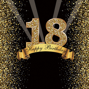 Image 2 - Happy Sweet 18th 25 30 40 50 55th Birthday Party Gold Dot Party Banner Photo Background Photophone Photo Backdrop Photostudio