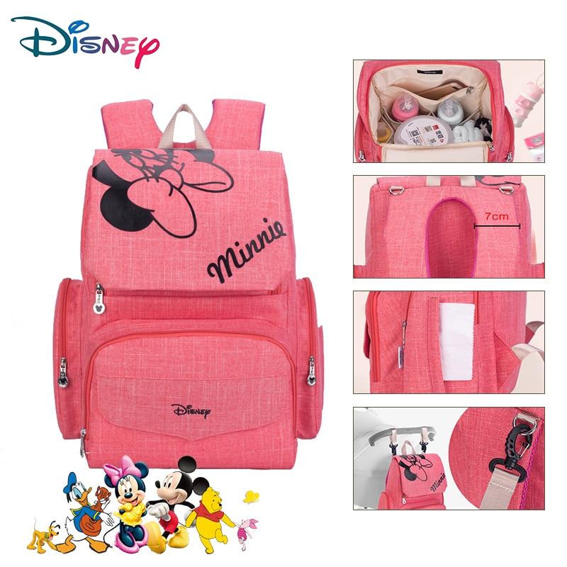 Sac à dos Disney pour bébé   Sac à couches de grande capacité, sac pour bébé pour maman, sac à couches étanche multifonctionnel, sac de poussette organisateur